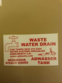 WASTE DRAIN POINT STICKER (GB-F-D)